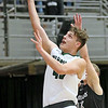 (Brad Davis/The Register-Herald) Wyoming East's Jacob Bishop drives to the basket against Westside during the New River Community and Technical College Shootout Saturday at the Beckley-Raleigh County Convention Center.