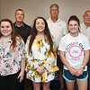 Black Diamond Lodge 81, Fraternal Order of Police awarded $500. scholarships to, Laken Gayle Kincaid, of Beckley, left, Madison A. Crone, of Midway and Logan Ragland, of Beckley. Applicants from local schools submitted information concerning their achievements along with essays relating to citizenship. Also pictured in background from left, Scott Van Meter, member and Raleigh County Sheriff, Dean Capehart, treasurer and Dan Farley, president.<br /> (Rick Barbero/The Register-Herald)
