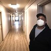 Frederick Harris, of Kimball, in the hallway of the Raleigh County Community Action Association Pine Haven Center in Beckley. Harris is an resident of the homeless shelter.<br /> (Rick Barbero/The Register-Herald)