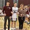 (Brad Davis/The Register-Herald) Senior night festivities honoring players Victoria Staunton (#23) and Liz Cadle (#24) prior to the Lady Flying Eagles' game against South Charleston Wednesday night in Beckley.