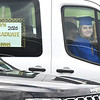 Katlyn Flack waits her turn to receive her diploma during Greenbrier West High School graduation ceremony Friday evening held at the State Fair of West Virginia's free parking lot in Fairlea. <br /> (Rick Barbero/The Register-Herald)