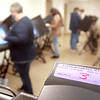 Raleigh County Deputy Clerks test voting machines on Wednesday, May 20th,  before the upcoming WV primary election. <br /> Jon C. Hancock/Register-Herald