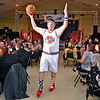 """(Brad Davis/The Register-Herald) Cody Reedy walks out into the crowd during the Hunks in Heels """"Fur"""" Real fundraising event Friday night at the Beckley Moose Lodge."""