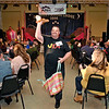 """(Brad Davis/The Register-Herald) J.R. Mink struts for the audience during the opeing moments of the 2020 Hunks in Heels """"Fur"""" Real fundraising event at the Beckley Moose Lodge."""