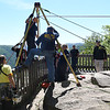 Rescue team preparing to locate  a 43 year old lady who apparently fell off the overlook at Grandview National Park.<br /> (Rick Barbero/The Register-Herald)