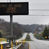 Stay ay home order diplayed on a sign on Route 19 near the Bradley Exit.<br /> (Rick Barbero/The Register-Herald)
