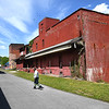 Old icehouse building on Commercial Street in Hinton.<br /> (Rick Barbero/The Register-Herald)