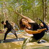 Dewana Waters Grillot, instructs students about breathing during the first Yoga in the Mountains class, on Monday, May 25, 2020.<br /> Jon C. Hancock/for The Register-Herald