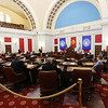 West Virginia Senate President Mitch Carmichael (R), address senators during opening day of the West Virginia Legislative Session in Charleston, W.Va., Wednesday, January 8, 2020. (Chris Jackson/The Register-Herald)