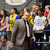 Shady Spring's head coach Ronnie Olson looks on during their basketball game against Wyoming East on Thursday in Beckley. (Chris Jackson/The Register-Herald)