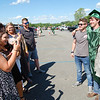 Greenbrier East High School celebrated the graduating class of 2020 at the State Fairgrounds on Saturday. (Christian Giggenbach/for The Register-Herald)