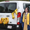 Jillian Mitchell wait to be called to receive her diploma during Shady Spring graduation ceremony. Due to the COVID-19 global pandemic, students at Shady Spring High School were not able to take part in the traditional graduation ceremony like students in the past, but their administration made accommodations so their parents and family members could watch them walk across the stage, receive their diplomas, and turn their tassels Friday evening in front of the school.<br /> (Rick Barbero/The Register-Herald)