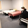 Frederick Harris, of Kimball, sitting in his room at Raleigh County Community Action Association Pine Haven Center in Beckley. Harris is a resident of the shelter.<br /> (Rick Barbero/The register-Herald)