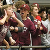 (Brad Davis/The Register-Herald) Woodrow Wilson students jeer the Greater Beckley section across the court Friday night at the Beckley-Raleigh County Convention Center.