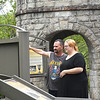Kristina Johnson shares a moment with her husband Daniel Johnson at the Coal Heritage Trail Interpretive Krosk on Main Street in Mt. Hope. Kristina was 18 years old when she was diagnosed as a Type 2 diabetic. Now, 13 years later, her kidneys have lost nearly all of their ability to function effectively. She is looking for a kidney donor who can help return her life to normalcy.<br /> (Rick Barbero/The Register-Herald)