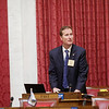 West Virginia Delegate Tom Fast, (R - Fayette) gathers his items at the end of their House session in the hHouse Chambers during opening day of the West Virginia Legislative Session in Charleston, W.Va., Wednesday, January 8, 2020. (Chris Jackson/The Register-Herald)