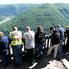 Rescue team looking over the overlook at Grandview National Park waiting for other team members to locate a 43 old lady who apparently fell off the overlook.<br /> (Rick Barbero/The Register-Herald)