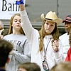 (Brad Davis/The Register-Herald) Shady Spring students react to events on the court against Greenbrier East Saturday.
