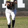 Wyoming East's Savannah Brehm makes a great catch in center field to end the inning.