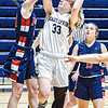 Independence's Emily Suddreth, left, defends as Shady Spring's Kierra Richmond drives for the basket during Wednesday evening action in Shady Spring. F. Brian Ferguson