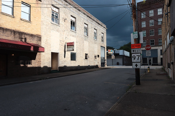 Downtown Mullens on Wednesday. Jenny Harnish/The Register-Herald