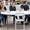Enjoying a taste test during the Great Beckley Beer festival Sunday evening. (left) Sean Davies of Dawson and Missy Austin of Dawson, Bri Austin of Denver Colorado, Alec and Emily Austin of Ronceverte.<br /> Tina Laney/for The Register-Herald