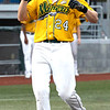 Pat Mills for the WV Miners  hits his 11th Homerun of the season tonight against the Champion City Kings. <br /> Tina Laney/For The Register-Herald