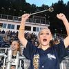 Greenbrier West cheerleader Rebekal Burke during game against  James Monroe Friday evening at Greenbrier West High School.<br /> (Rick Barbero/The Register-Herlad)