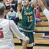 F. Brian Ferguson/Register-Herald Greenbrier East's Baiee Coles hits a jumper against Oak Hill during Thurrsday evening action in Oak Hill.
