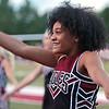 Cheerleader Jasmine Wright cheers during the game between Woodrow Wilson and Riverside high schools Friday at Woodrow Wilson High School. Jenny Harnish/The Register-Herald