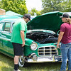 Hunter Tolliver and Jacob Sheets Honoring is Grandfathers yearly tradition with his 1955 Chrysler Imperial at the Friends of Charity Auto Fair<br /> Tina Laney/for The Register-Herald