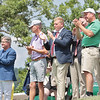 Spectators applaud as the final round of golfers finish during the 102nd West Virginia Amateur at The Greenbrier in White Sulphur Springs Wednesday.  Jenny Harnish/The Register-Herald