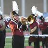 Woodrow Wilson band performing during game against Greenbrier East at VanMeter Stadium in Beckley Friday night.<br /> (Rick Barbero/The Register-Herald)