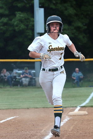 Greenbrier East's Josie Ervin runs home during the Class AAA Region 3, Section 2 game against Woodrow Wilson High School in Fairlea Tuesday. Jenny Harnish for the Register-Herald