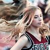 CheerleaderMaddie Lewis cheers during the game between Woodrow Wilson and Riverside high schools Friday at Woodrow Wilson High School. Jenny Harnish/The Register-Herald