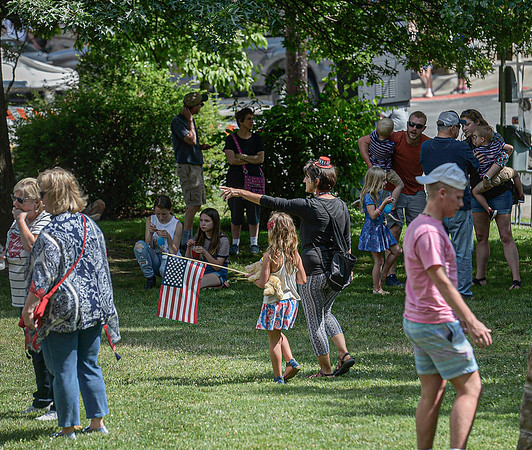 F. Brian Ferguson/Register-Herald Perfect weather was the order of the day on the lawn of the Fayette County Courthouse for Saturday's Fayetteville Independence Day Parade.