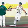 Pat Mills for the WV Miners rounding the bases after hitting a Homerun tonight again Champion City Kings.<br /> Tina Laney/for The Register-Herald