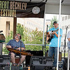 Long Point String Band (left)Lewis Pritchered, Hunter Walker, Brian Bell, Barbara Rosier  playing during The Great Beckley Beer Festival Sunday evening.<br /> Tina Laney/for The Register-Herald