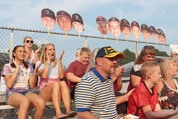 Beckley fans cheer for their team during the State Little League game against Barboursville Tuesday in Lewisburg. Jenny Harnish/The Register-Herald