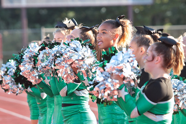 Shady Spring Middle School's cheerleaders during Thursday's game at Woodrow Wilson High School in Beckley. Jenny Harnish/The Register-Herald