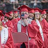 F. Brian Ferguson/Register-Herald A mixture of masks and social distancing was the order of the day at Oak Hill's High School Graduation.