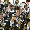 Greenbrier East band performing during game against Woodrow Wilson at VanMeter Stadium in Beckley Friday night.<br /> (Rick Barbero/The Register-Herald)
