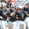 North Marion team celebrates after beating Independence 7-2 during the semi-final State Baseball Tournament held at Appalachian Power Park in Charleston Friday morning.<br /> (Rick Barbero/The Register-Herald)