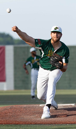 On the mound for WV Miners Hunter Youngblood against the Lafayette Aviators.<br /> Tina Laney/for The Register-Herald