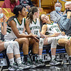 F. Brian Ferguson/Register-Herald The Wyoming East Lady Warrior starters take a rest on the bench in the final moments of their win in Friday's State AA game in Charleston. (From left), Madison Clark, Dalsha Summers, Abby Russell and an exhausted Skylar Davidson. The Lady Warriors advanced to Saturday's Class AA State Championship game.