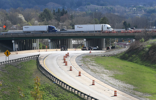 Vehicles driving across the 1-77 bridge at the Sophia exit in MacAthur.<br /> (Rick Barbero/The Register-Herald)