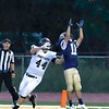 Jake Showalter of Shady Spring defending the end zone preventing a touchdown Friday night against Tug Valley.<br /> Tina Laney/for The Register-Herald