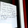 Corn Flour in downtown Lewisburg closed Thursday because of a water boil advisory. Jenny Harnish for The Register-Herald