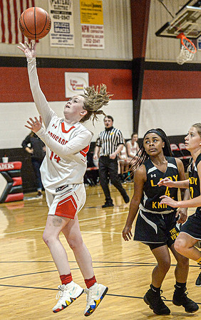 Beckley Christian's Emma Moss drives for the basket against Mt. View during Monday evening action in Beckley. F. Brian Ferguson