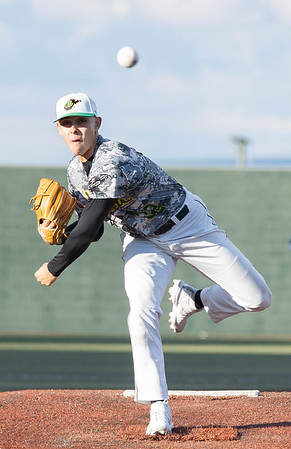 Andrew Talkington on the mound for the WV Miners tonight against the Johnstown Mill Rats.<br /> Tina Laney/for The Register-Herald